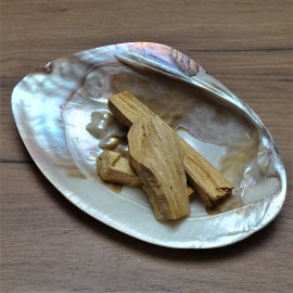 Mother-of-pearl shells and Palo Santo sacred wood