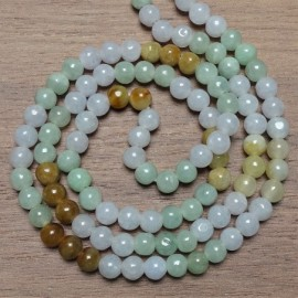 Korálky  JADEIT mix barev Ø 6,5 mm Barma