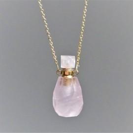 Růženín - krystalový aroma difuzér (náhrdelník)