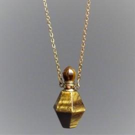 Tygří oko - krystalový aroma difuzér (náhrdelník)