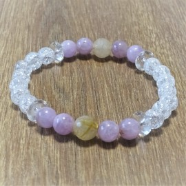 Bracelets of minerals - semi-precious and precious stones
